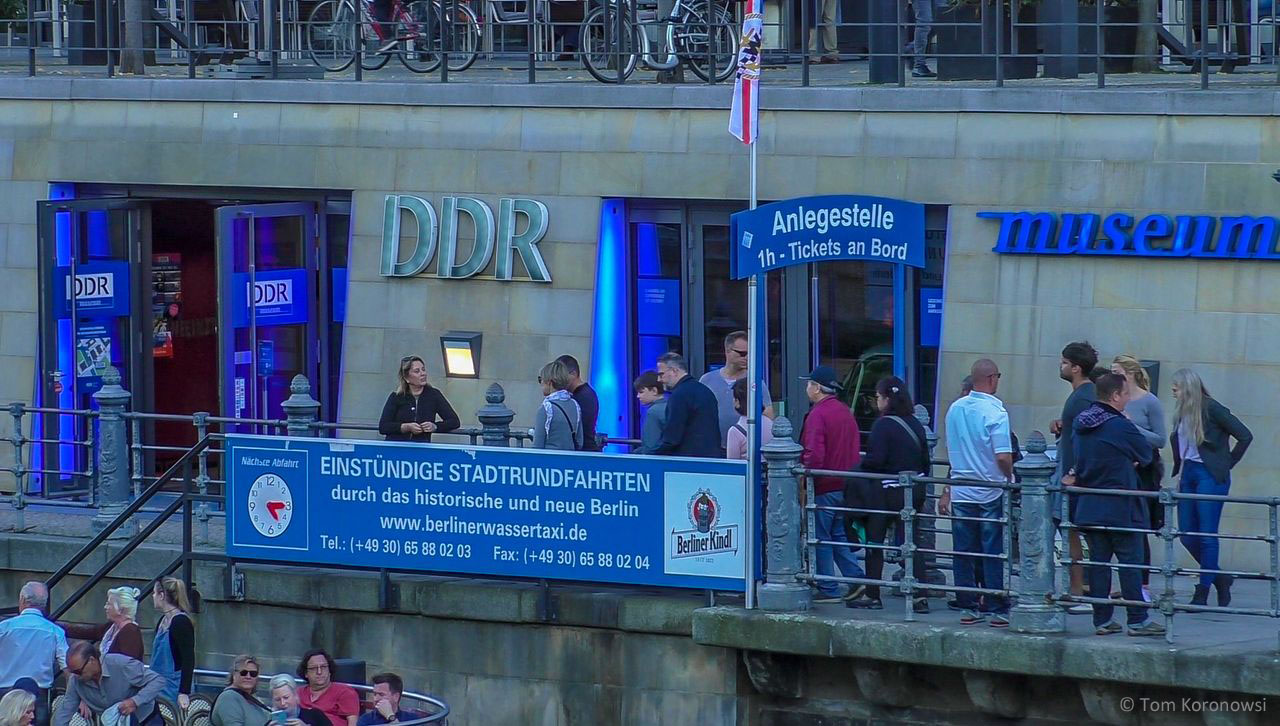 Entrance of the GDR Museum Berlin at DomAquaree